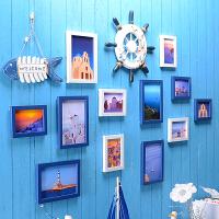 御目 照片墙 地中海风格挂饰餐厅组合墙贴简约儿童房相框挂相片客厅现代装饰欧式