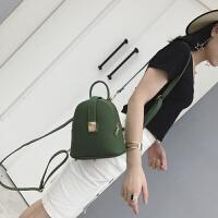 迷你双肩包女韩版潮2018新款时尚个性百搭简约手提单肩小背包女包 LS1318 绿色 送丝巾 现货