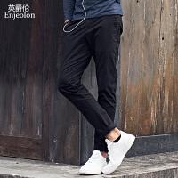英爵伦潮牌2019秋季男士修身休闲长裤青年韩版潮流裤子直筒小脚裤男