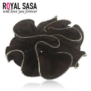皇家莎莎RoyalSaSa大花朵布艺发圈韩式盘发头花发绳发饰韩国扎马尾皮筋头绳