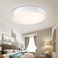 雷士镂空设计圆形主卧室灯具led吸顶灯温馨浪漫简约创意遥控灯饰