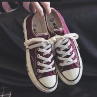 帆布鞋女时尚女鞋韩版学生板鞋休闲鞋2019夏季新款百搭平底小白鞋潮