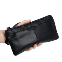钱包男长款真皮拉链软皮大容量多功能牛皮潮青年手抓手拿包手机包