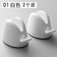 【好����x】�D牙膏神器免打孔牙刷置物架�腥耸��D小��A洗面奶�o�w品按�浩� 01#白色2���b