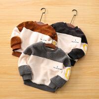 男童卫衣冬季童装宝宝保暖套头上衣儿童卫衣外套