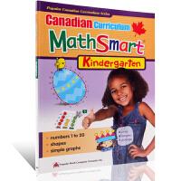【满300-100】加拿大课程Math Smart Kindergarten数学学习练习册 Canadian Curri