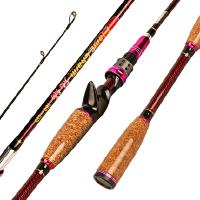 鱼竿渔具用品魅焰1.8-2.1米定位可调定位水滴轮枪柄路亚竿 支持礼品卡支付