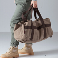 户外旅行大包大容量多功能双肩包单肩斜跨手提包男士休闲帆布包背包男