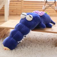 维莱 超柔软毛绒玩具可爱鳄鱼抱枕靠垫蝴蝶结玩偶枕头女朋友儿童节 蓝 50cm