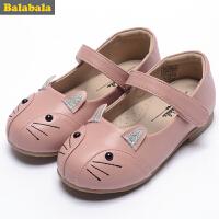 巴拉巴拉童鞋女童公主鞋秋季新款小宝宝演出皮鞋可爱卡通单鞋