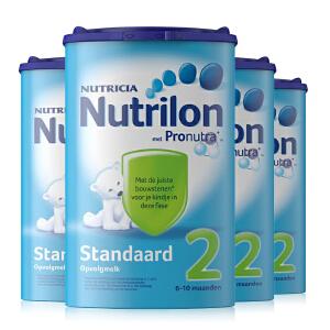 【当当海外购】荷兰进口诺优能Nutrilon牛栏 婴幼儿奶粉2段(6-10个月宝宝) 850g【4罐装】