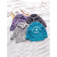 儿童家居服套装男童冬季睡裤小童宝宝保暖童装