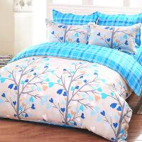 20191109021342833四件套 家纺床单式床上用品磨毛斜纹简约床品套件 1.5*2.0/1.8*2.0床 1