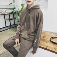 男士卫衣套装春装 韩版外套男青少年休闲裤卫衣男装潮两件套