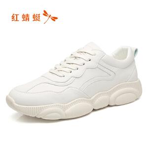 红蜻蜓小熊鞋男春秋运动休闲鞋网红小白鞋老爹鞋潮鞋C0191380
