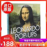 现货 英文原版 达芬奇500周年纪念立体书 Leonardo Da Vinci Pop-ups