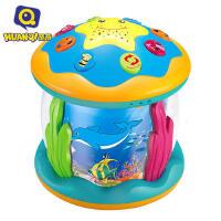 环奇旋转木马宝宝男电动手拍鼓婴儿益智拍拍鼓女音乐儿童玩具1-2周岁