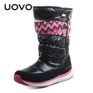 UOVO儿童雪地靴女童中大童棉鞋 男童加绒保暖棉靴子冬季新款潮 索米尔