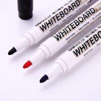 得力白板笔黑色水性可擦儿童用彩色红蓝黑板笔办公用品文具批发