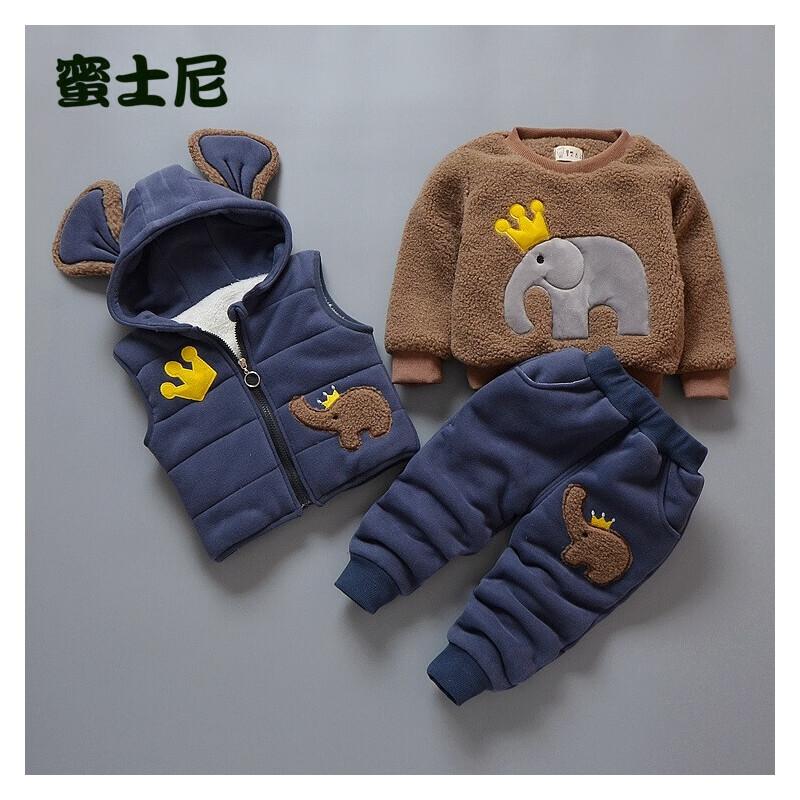秋冬装宝宝衣服冬天婴儿童棉衣套装