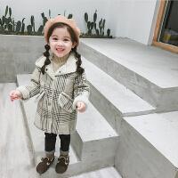 女童外套秋冬儿童宝宝冬装洋气公主毛呢大衣