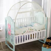 甜梦莱婴儿蚊帐罩免安装防摔儿童男孩bb可折叠便携蒙古包宝宝婴儿床蚊帐