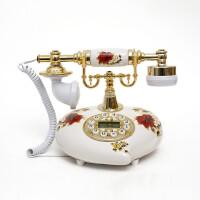 至臻陶瓷田园仿古电话机/复古固定电话座机/带免提背光来电显示