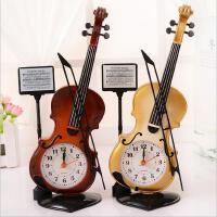 创意新奇浪漫可爱特别实用手提琴塑料闹钟送男女生闺蜜生日礼物