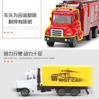 仿真儿童合金惯性回力工程小汽车模型卡车玩具