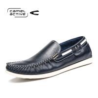 Camel Active/骆驼动感春秋男士豆豆鞋真皮休闲潮鞋英伦驾车男鞋