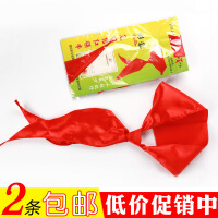 儿童学生易拉得红领巾拉链棉布免打结学校批发厂家文具习用品2条