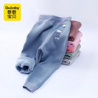 歌歌宝贝童装男女童裤子新款加绒洋气长裤