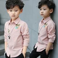 童装男童秋装衬衫长袖春秋儿童男孩白衬衣上衣潮