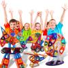 【悦乐朵玩具】儿童磁力片积木 百变提拉磁铁拼装建构片 磁性积木摩天轮车轮散片套装 早教益智玩具 送宝宝男孩女孩生日礼物3-6-12岁六一儿童节礼物礼品