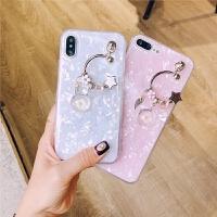 韩风潘多拉吊坠iphonex手机壳贝壳硅胶苹果6s软壳7plus潮女8p