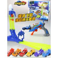 爆冲火箭车全套奥迪双钻小汽车赛道套装男孩儿童轨道暴冲飞擎玩具