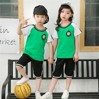 幼儿园园服夏装纯棉男女童套装夏季小学生校服儿童节运动表演班服