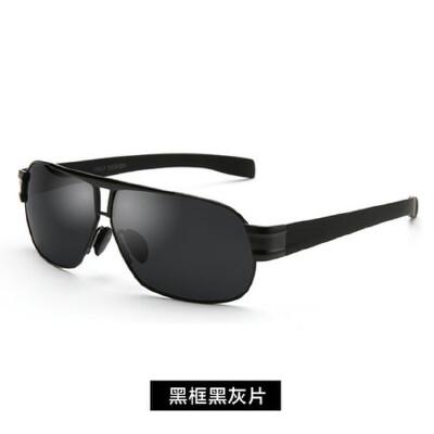 太阳镜男士偏光潮酷墨镜运动开车驾驶司机镜钓鱼金属合金眼镜 品质保证 售后无忧 支持货到付款