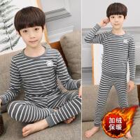 男童秋冬装套装学生男孩保暖内衣睡衣