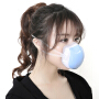 成人呼吸防雾霾口罩pm2.5透气电动口罩防甲醛可换滤芯四级过滤系统和食用级硅胶材质