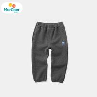 巴拉巴拉马卡乐童装男宝宝2019冬季新款男童简约舒适针织长裤