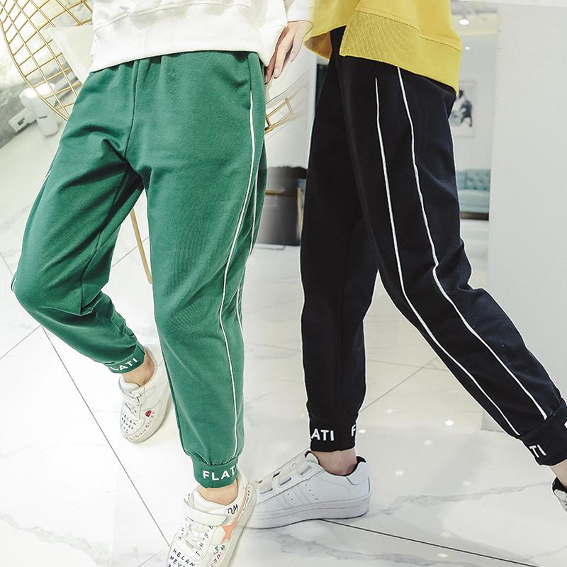 女童运动裤儿童装春秋季洋气休闲裤宽松运动长裤子潮