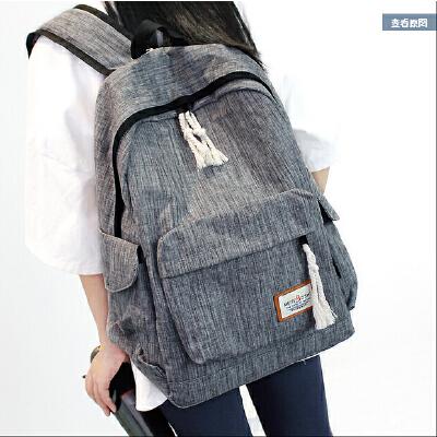 简约双肩包男女韩版中学生书包大容量旅行背包学院风电脑包休闲包