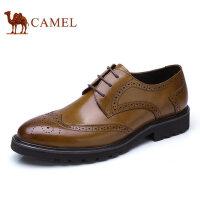 【每满100减50 满200减100】camel 骆驼布洛克皮鞋经典英伦商务休闲鞋真皮牛皮鞋复古正装男鞋