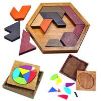 益智力亲子游戏3-4-5-6-7-8岁儿童七巧板拼图九巧板拼板积木玩具
