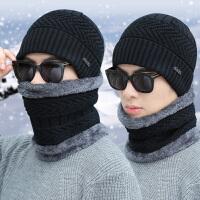 帽子男冬季保暖百搭套头帽骑行防风加绒加厚毛线帽休闲时尚针织帽