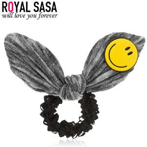 皇家莎莎发圈时尚笑脸发饰头饰日韩版兔耳朵可爱儿童发圈头花配饰品