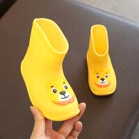 儿童雨鞋可爱卡通短筒防滑橡胶鞋小孩水鞋幼儿宝宝雨靴男女童幼儿园小学生加绒防滑防水1-3婴幼儿童套鞋