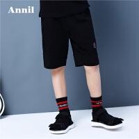 【3件3折:50.7】安奈儿童装男童夏季新款全腰中裤EB826203