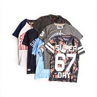 SUPERDRY/极度干燥男士短袖t恤印花T恤潮流印花街头时尚T恤M10MA012